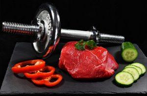 תזונה וספורט - משקולות ובשר